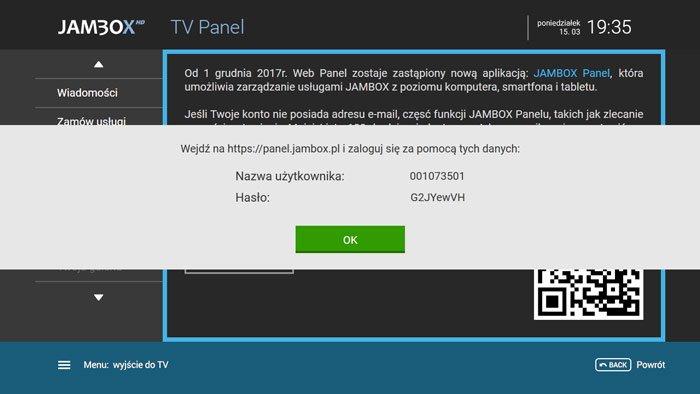 Hasło doJambox panel