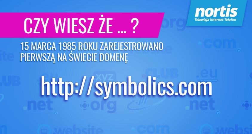 Pierwsza domena została założona 1995 roku
